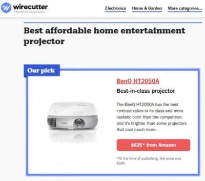wire e1564437184794 - 美国家用投影仪推荐 3款$1K以内最佳投影仪对比
